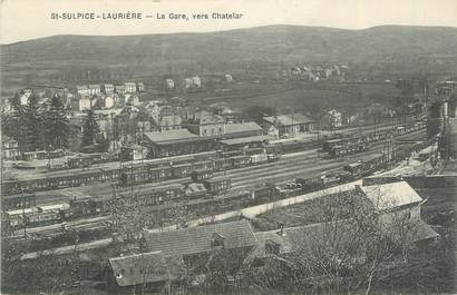 "CPA FRANCE 87 "" St Sulpice - Laurière, La gare vers Chatelar"""