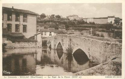 """CPA FRANCE 87 """" Bellac, Le Pont de la Pierre"""""""