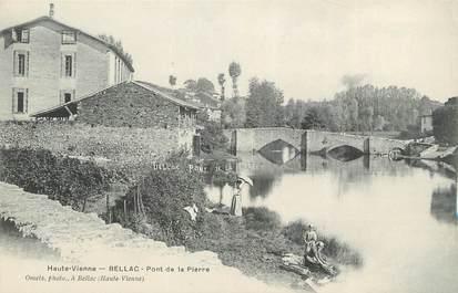 """CPA FRANCE 87 """" Bellac, Pont de la Pierre"""""""