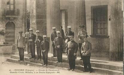 "CPA ESPAGNE ""Behobie, groupe de carabiniers"""