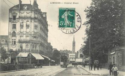 """CPA FRANCE 87 """" Limoges, Central Hôtel"""""""