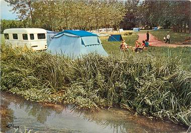 """CPSM FRANCE 45 """"Chateaurenard, le camping"""""""