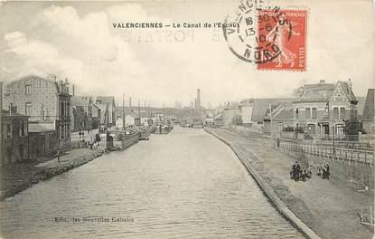 """CPA FRANCE 59 """"Valenciennes, le canal de l'Escaut"""""""