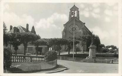 """CPSM FRANCE 87 """" Chateauneuf la Forêt, L'église et le monument aux morts'"""
