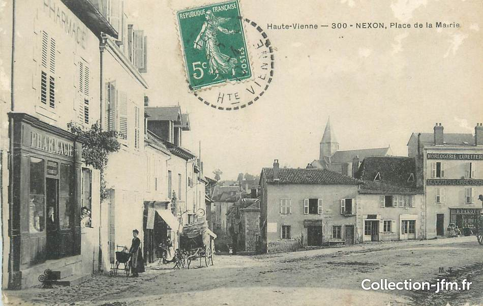 Cpa france 87 nexon place de la mairie 87 haute for 87 haute vienne france