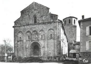 """CPSM FRANCE 87 """"Les Salles - Lavauguyon, Façade de l'église"""""""