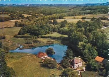 """CPSM FRANCE 87 """"La Roche l'Abeille, Vue aérienne de l'ancien Moulin de Lagorce"""""""