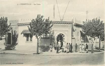 """CPA TUNISIE """"Ferryville, la poste"""""""