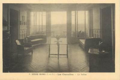 """CPA FRANCE 91 """" Athis Mons, Les Charmilles, Le salon"""""""