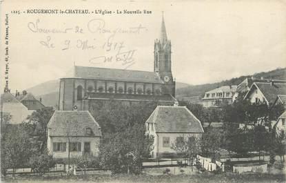 """CPA FRANCE 90 """" Rougemont le Château, L'église, la nouvelle rue"""""""