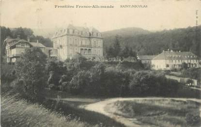 """CPA FRANCE 90 """" Frontière Franco Allemande, St Nicolas"""""""