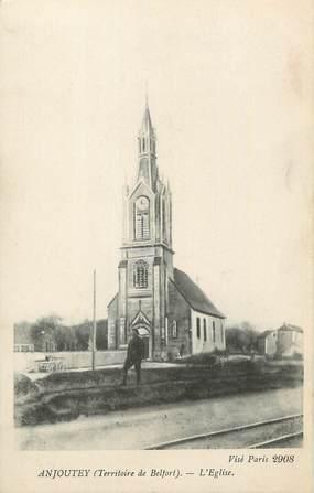 """CPA FRANCE 90 """"Anjoutey, L'église"""""""