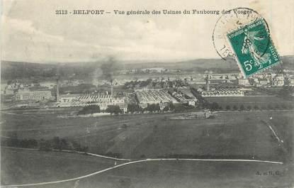 """CPA FRANCE 90 """" Belfort, Vue générae des usines du Faubourg des Vosges"""""""