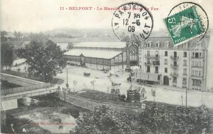 """CPA FRANCE 90 """" Belfort, Le marché et le pont de fer"""""""