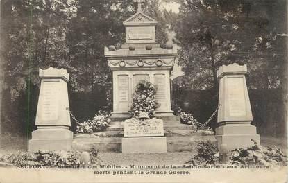 """CPA FRANCE 90 """" Belfort, Le cimetière des mobiles, le monument aux morts"""" / ARTILLEURS"""