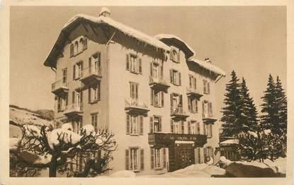 """CPA FRANCE 74 """" Megève, Hôtel Restaurant Le Soleil d'Or"""""""