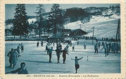 "CPA FRANCE 74 "" Megève, La patinoire"""