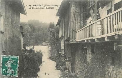 """CPA FRANCE 74 """" Megève, La cascade St Georges"""""""