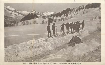 """CPA FRANCE 74 """" Megève, Course de bobsleigh"""""""