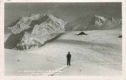 """CPSM FRANCE 74 """" Megève, Le Mont Blanc, le col et le chalet d'Arbois"""""""