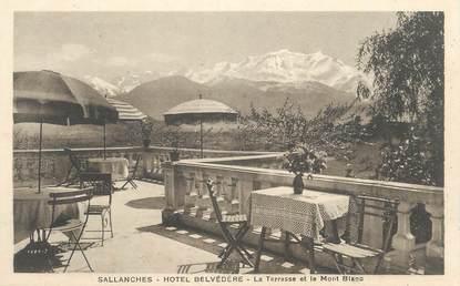 """CPA FRANCE 74 """" Sallanches, La terrasse de l'Hôtel Belvédère"""""""