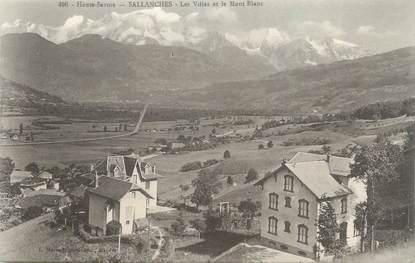 """CPA FRANCE 74 """" Sallanches, Les villas et le Mont Blanc"""""""