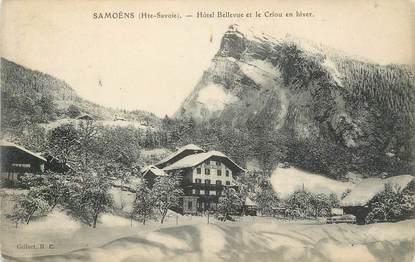 """CPA FRANCE 74 """" Samoëns, Hôtel Bellevue et le Criou en hiver"""""""