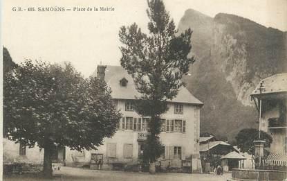 """CPA FRANCE 74 """" Samoëns, Le place de la mairie"""""""