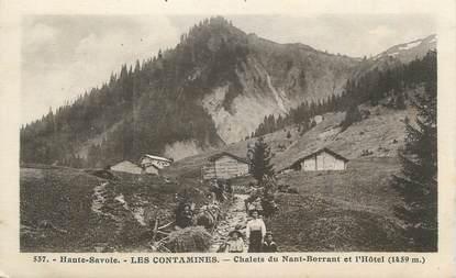 """CPA FRANCE 74 """" Les Contamines, Chalets du Nant Borrant et l'Hôtel"""""""