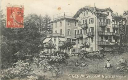 """CPA FRANCE 74 """" St Gervais les Bains, La Bérangère"""""""