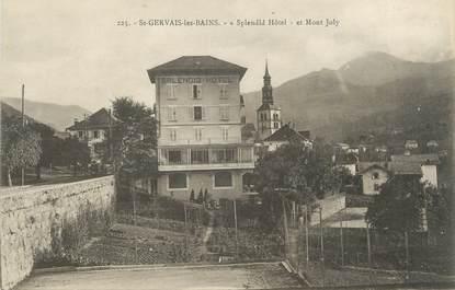 """CPA FRANCE 74 """" St Gervais les Bains, Splendid Hôtel et Mont Joly"""""""