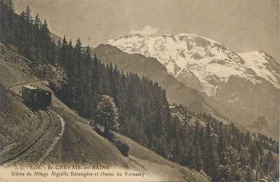 """CPA FRANCE 74 """" St Gervais les Bains, Le Dôme de Miage, Aiguille Bérangère et Chaîne de Vorassay"""""""