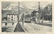 """74 Haute Savoie CPA FRANCE 74 """" St Gervais les Bains, Hôtel du Mont Blanc et les Aiguilles de Varens"""""""