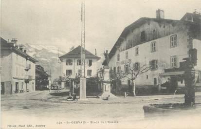 """CPA FRANCE 74 """" St Gervais les Bains, Place de l'église """""""