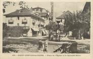 """74 Haute Savoie CPA FRANCE 74 """" St Gervais les Bains, La Place de l'église et le Splendid Hôtel"""""""
