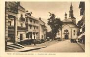 """74 Haute Savoie CPA FRANCE 74 """" St Gervais les Bains, La Place de l'église"""""""