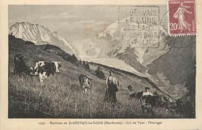 """CPA FRANCE 74 """"Environs de St Gervais les Bains, Les pâturages du Col de Voza """""""