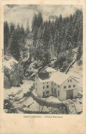 """CPA FRANCE 74 """"St Gervais les Bains, L'usine électrique"""""""