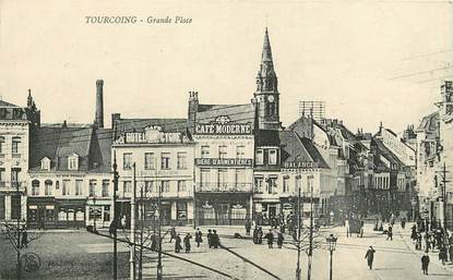 """CPA FRANCE 59 """"Tourcoing, Grande Place"""""""