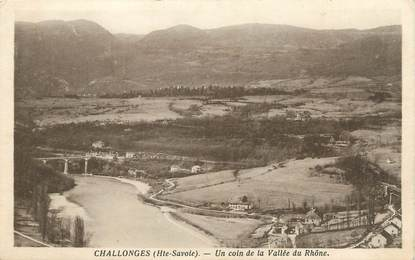 """CPA FRANCE 74 """" Challonges, Un coin de la Vallée du Rhône"""""""
