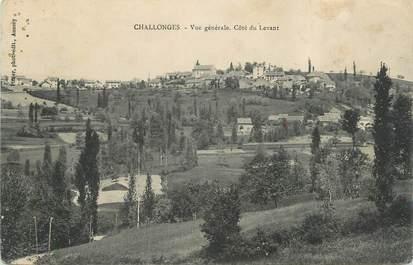 """CPA FRANCE 74 """" Challonges, Vue générale côté du Levant"""""""