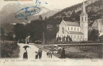 """CPA FRANCE 74 """" Duingt, L'église et la Tournette"""""""