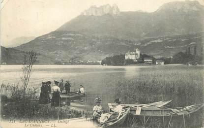 """CPA FRANCE 74 """" Duingt, Le château sur le Lac d'Annecy"""""""