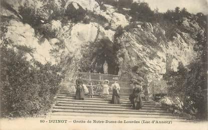 """CPA FRANCE 74 """" Duingt, La Grotte de Notre Dame de Lourdes"""""""