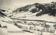 """74 Haute Savoie CPSM FRANCE 74 """" Praz sur Arly, Vue générale et le Mont Blanc"""""""
