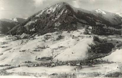 """CPSM FRANCE 74 """" Praz sur Arly, Vue générale et le Mont Lachat"""""""