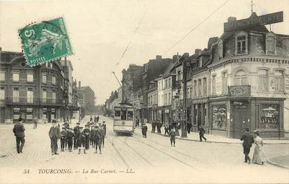 """CPA FRANCE 59 """"Tourcoing, La Rue Carnot"""""""