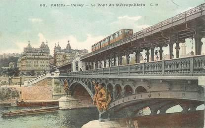 """CPA FRANCE 75016 """"Paris, Passy, le pont du Métro"""""""