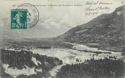 """CPA FRANCE 74 """" Le Fayet"""" / INONDATION"""