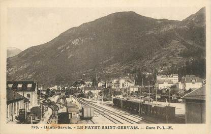 """CPA FRANCE 74 """" Le Fayet, Gare PLM"""""""